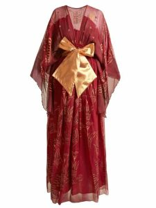 Zandra Rhodes - Summer Collection The 1973 Field Of Lilies Gown - Womens - Burgundy