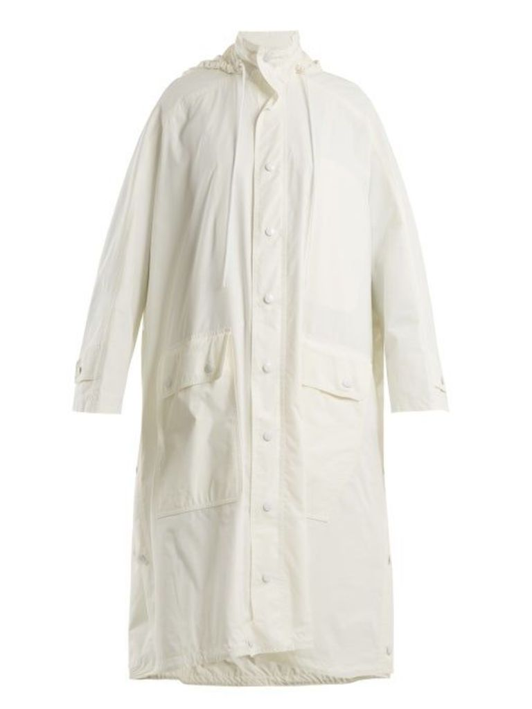 Balenciaga - Opera Raincoat - Womens - White