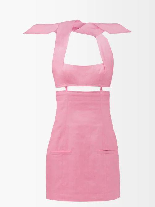 Sies Marjan - Terry Crinkled Wool Blend Blazer - Womens - Blue