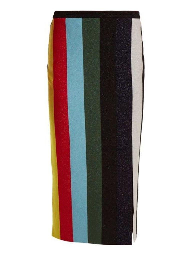 Diane Von Furstenberg - Striped Stretch Knit Pencil Skirt - Womens - Multi