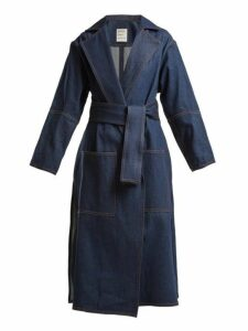 Maison Rabih Kayrouz - Notch Lapel Denim Coat - Womens - Denim