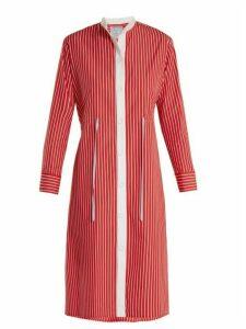Dovima Paris - Frankie Striped Cotton Poplin Shirtdress - Womens - Red Multi