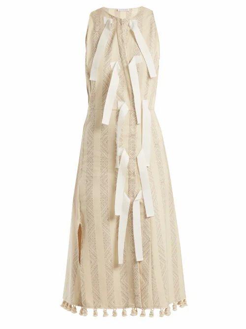 Altuzarra - Blanche Diamond Jacquard Dress - Womens - Ivory