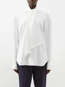 By Walid - Sharon Antique Silk Blend Slip Dress - Womens - Beige