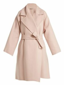 Bottega Veneta - Double Faced Cashmere Coat - Womens - Light Pink