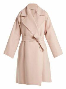 Bottega Veneta - Double Faced Cashmere Coat - Womens - Light Pink