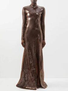 Gabriela Hearst - Larrington Wool And Cashmere Blend Dress - Womens - Grey