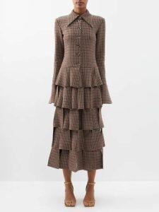 Esteban Cortázar - Asymmetric Cut Out Knit Mini Dress - Womens - Red