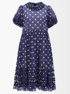 Msgm - Tartan Twill Dress - Womens - Red Black