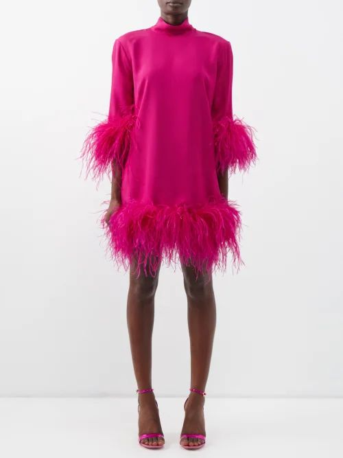 Roksanda - Syve Twist Back Asymmetric Hem Wool Dress - Womens - Beige
