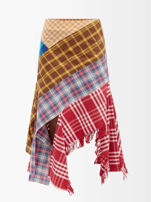Jw Anderson - Double Breasted Twill Trench Coat - Womens - Beige