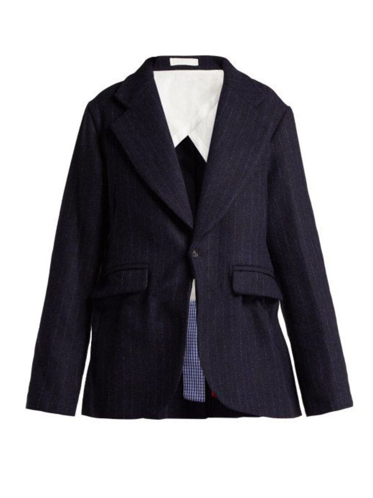 La Fetiche - Helmut Harris Tweed Blazer - Womens - Navy