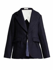 La Fetiche - Helmut Harris Tweed Blazer - Womens - Navy