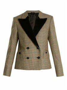 Blazé Milano - If And When Pow Velvet Lapel Blazer - Womens - Black White