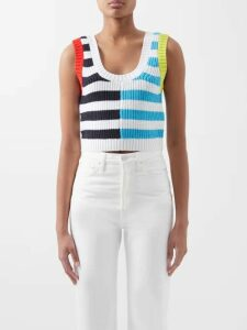 Wanda Nylon - Tie Waist Coated Tartan Trench Coat - Womens - Brown Multi