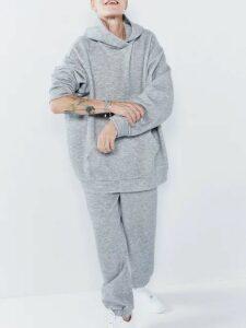 Raey - Cashmere Blend Track Pants - Womens - Grey