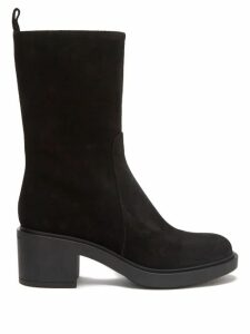 Ace & Jig - Mojave Panelled Checked Cotton Skirt - Womens - Black White