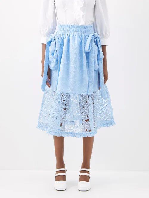 Mary Katrantzou - Bridge Floral Fil Coupé Skirt - Womens - Multi