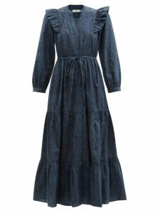 Mary Katrantzou - Bridge Floral Fil Coupé Skirt - Womens - Multi