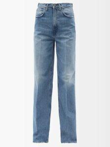 Erdem - Tricia Keiko Disty Print Silk Voile Gown - Womens - Blue Print