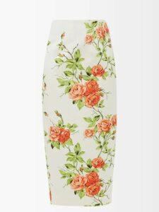 Roksanda - Darya Blouson Sleeve Crepe Dress - Womens - Purple