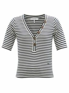 Toga - Abstract Floral Print Panelled Midi Skirt - Womens - Blue White