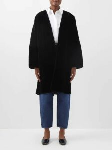 Rochas - Metallic Jacquard Belted Coat - Womens - Gold Multi