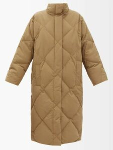 Miu Miu - Distressed Leather A Line Skirt - Womens - Black