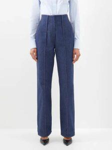 Miu Miu - Distressed-leather A-line Skirt - Womens - Black