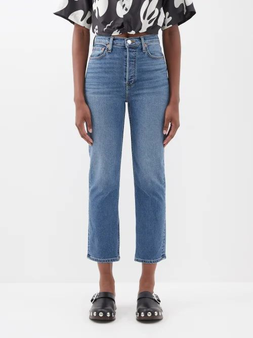 Joostricot - Floral Intarsia Stretch Jersey Skirt - Womens - Yellow Multi