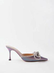 The Attico - Checked Tie Waist Cotton Shirtdress - Womens - Yellow Multi
