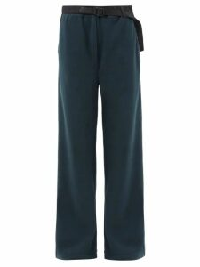 Fendi - Lozenges Print Cut Out Front Wool Blend Dress - Womens - Black Multi