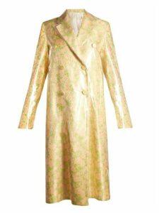 Calvin Klein 205w39nyc - Coated Overlay Floral Jacquard Coat - Womens - Orange Multi
