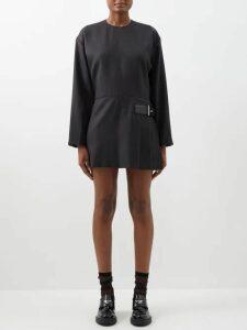 Maria Lucia Hohan - Gaia Striped Pleated Lamé Mini Dress - Womens - Silver Multi
