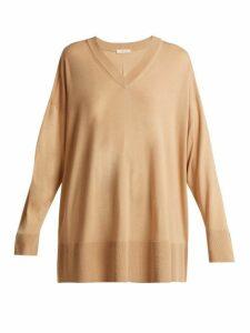 The Row - Sabrinah Oversized Fine Wool Sweater - Womens - Camel