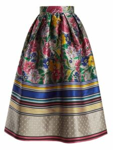 Mary Katrantzou - Bowles Floral Jacquard Skirt - Womens - Multi