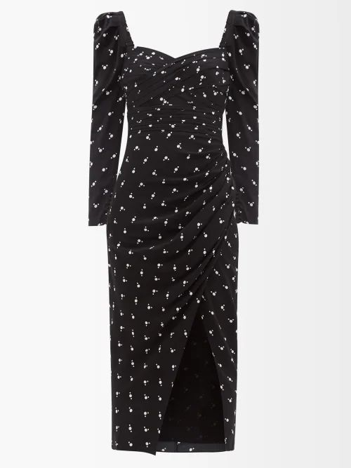 Gucci - Chevron Panelled Quilted Jacket - Womens - Red
