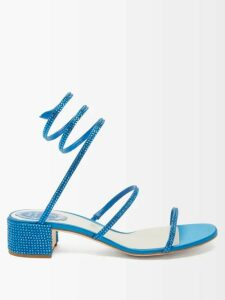 Erdem - Ina Mariko Meadow Print Floral Skirt - Womens - Blue Print