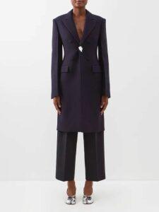 Roksanda - Lavonne V Neck Silk Dress - Womens - Purple