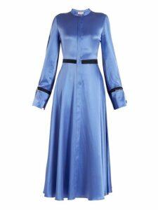 Roksanda - Zaelie Silk Charmeuse Dress - Womens - Blue