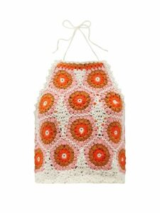 Valentino - One Shoulder Wool Blend Skater Dress - Womens - Red