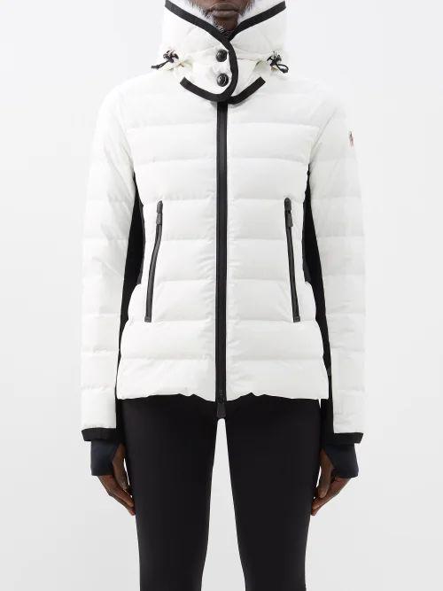 Maison Margiela - Raw Edged Virgin Wool Blend Twill Skirt - Womens - Cream