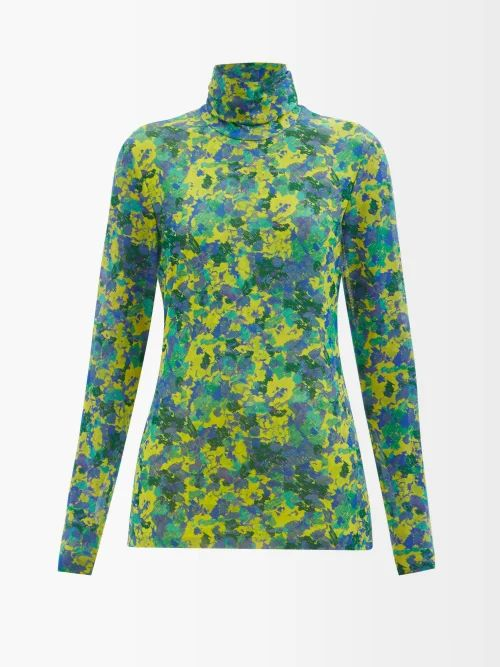 Stella Mccartney - Fleur Single Breasted Wool Blazer - Womens - Navy