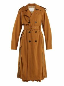 Toga - Double Breasted Side Zip Trench Coat - Womens - Camel