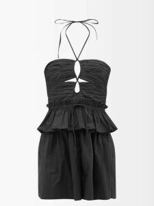Preen Line - Amina Floral Print Tiered Dress - Womens - Red Print