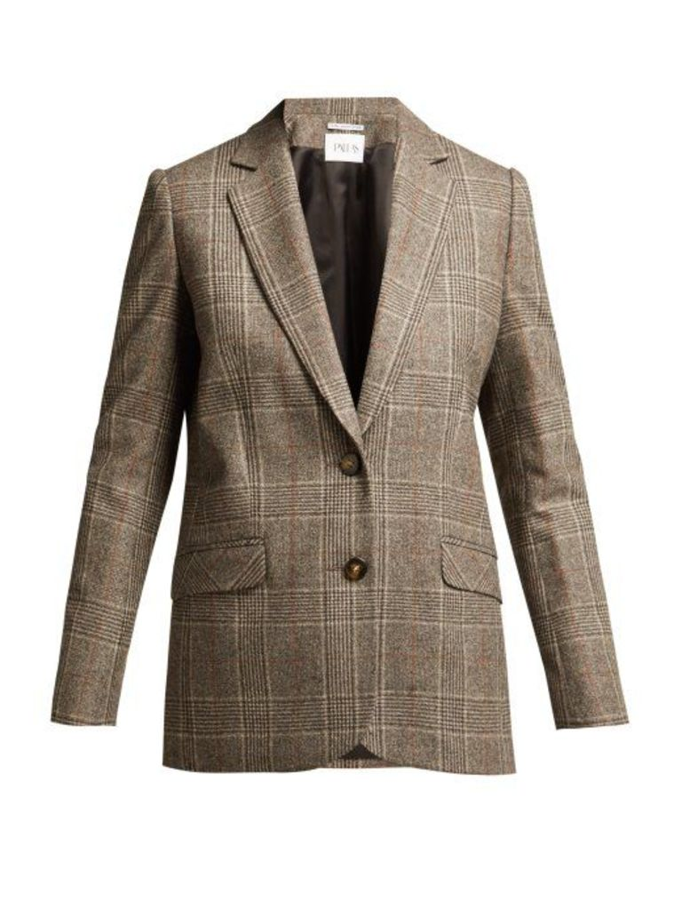 Pallas X Claire Thomson-jonville - Dickens Princes Of Wales Check Blazer - Womens - Grey Multi