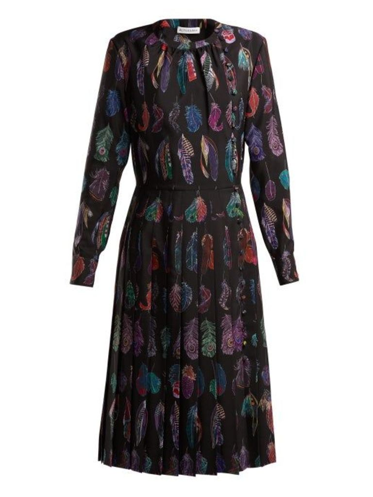 Altuzarra - Falcon Feather Print Dress - Womens - Black Print