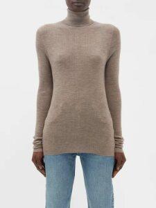 Masscob - Laurent Ruched Velvet Dress - Womens - Green