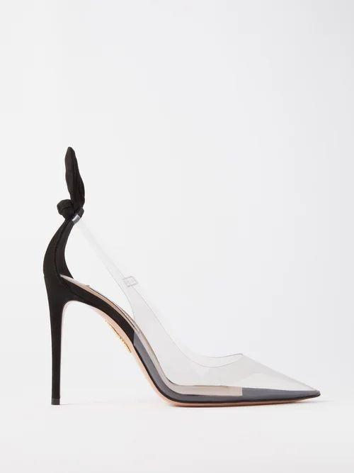 Chloé - Contrast Topstitching Denim Shirt - Womens - Dark Blue