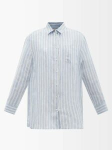 Raey - Crepe Shirtdress - Womens - Black